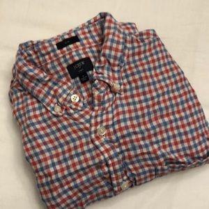 J. Crew Linen Pocket Button Down